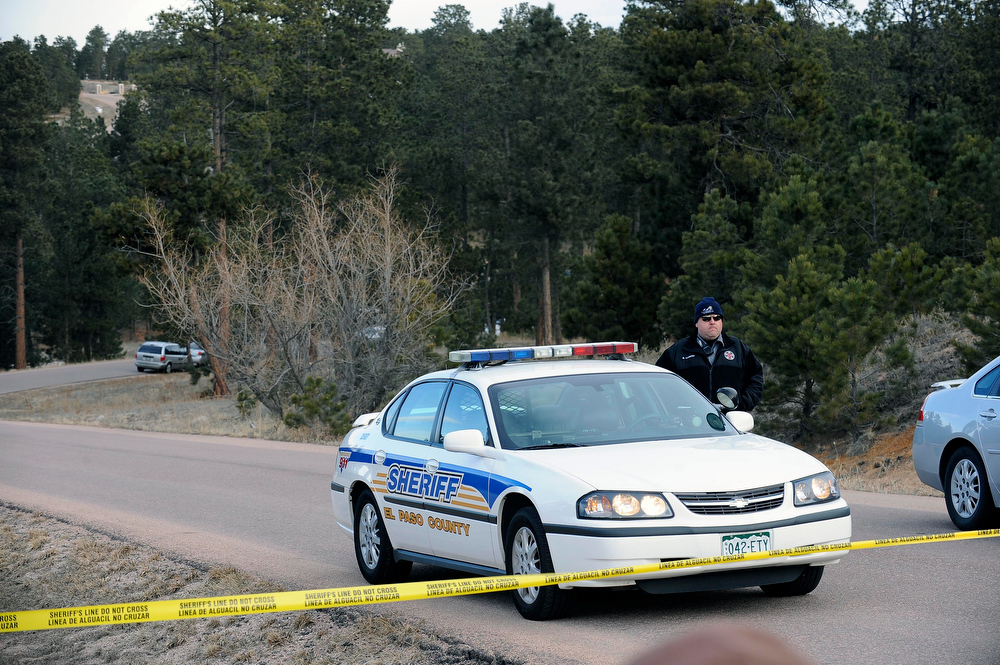 . The road was closed to the home of Tom Clements, executive director of the Colorado Dept. of Corrections, as officials investigated his death Wednesday morning. Clements was shot and killed at the front door of his home east of Monument Tuesday night. (Photo By Steve Nehf / The Denver Post)