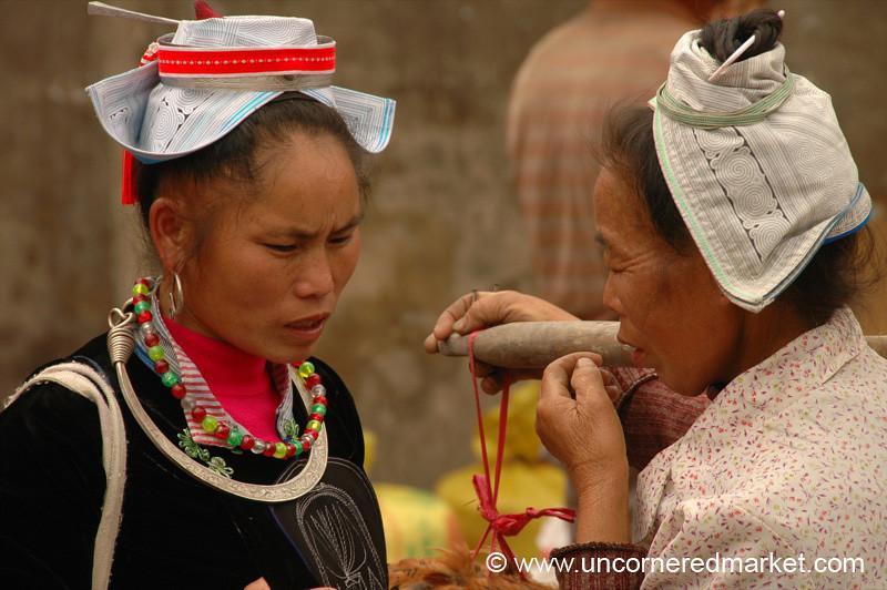 Gejia Women Chatting - Guizhou Province, China