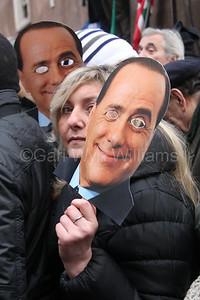 Silvio Berlusconi farewell speech in Rome Italy