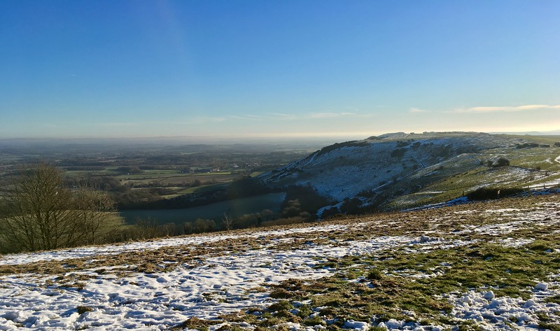 Ditchling Beacon on a frosty morning