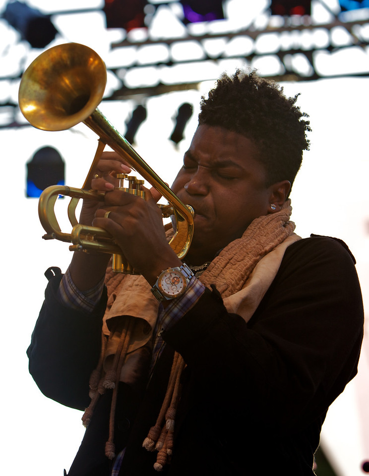 Christian Scott in concert at the Nice Jazz Festival 2010