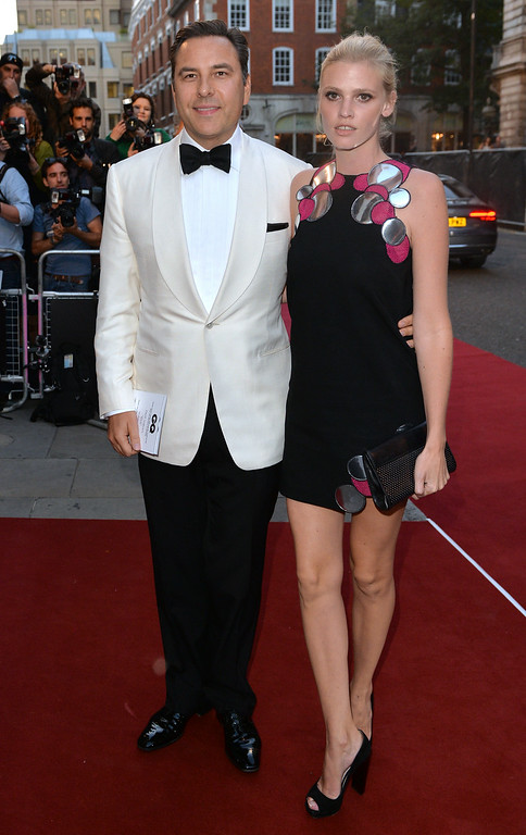 . David Walliams and Lara Stone attend the GQ Men of the Year awards at The Royal Opera House on September 2, 2014 in London, England.  (Photo by Anthony Harvey/Getty Images)