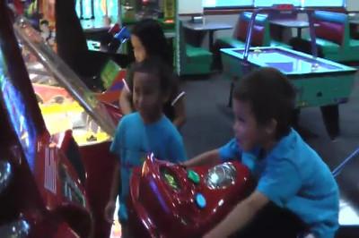 Maddie at Classmates at Chuck E. Cheese - June 20, 2008