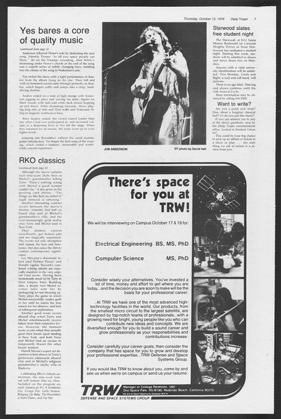 Daily Trojan, Vol. 75, No. 18, October 12, 1978