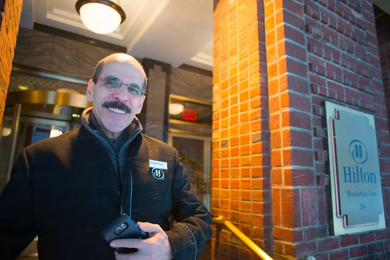 Freddie at the Hilton Hotel Manhattan East