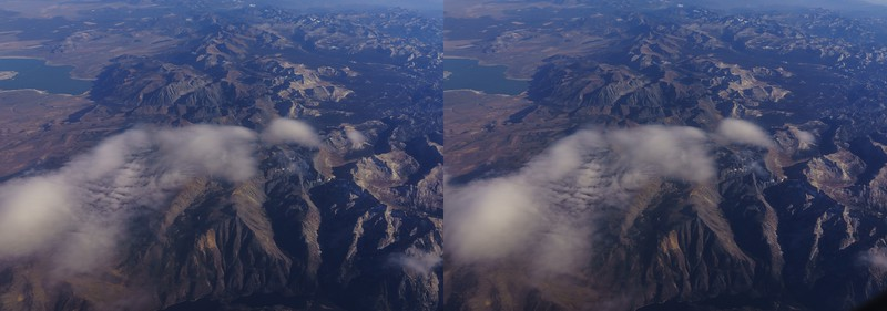 Stereo Pairs of Clouds (CA to NM, x-eyed)