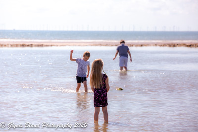 Three Children at the Beach