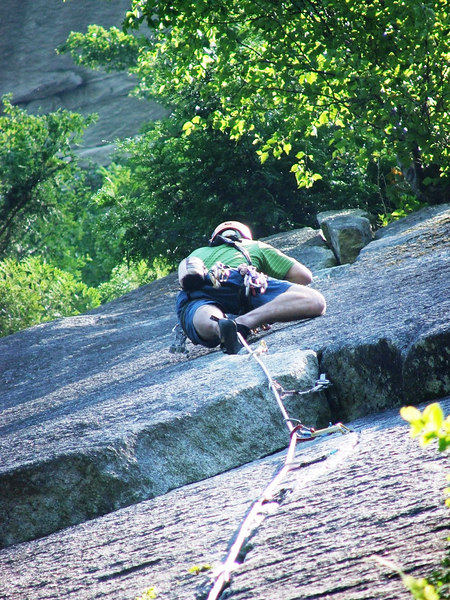 Kyle on Arrowroot, 10B.  Base of the Grand Wall, Squamish, BC.