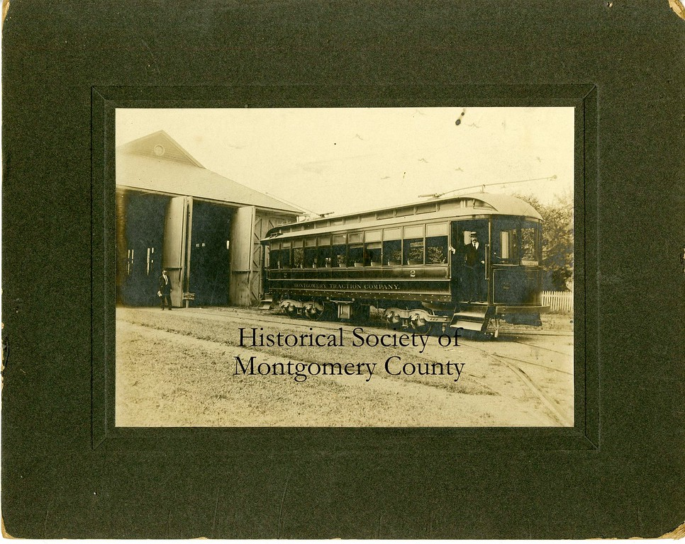 . This photo from about 1900 shows a trolley from the Montgomery Traction Company.