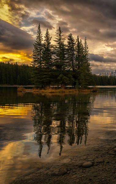 Spirit Island on Two Jack Lake