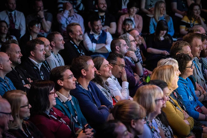 Audience members at Thinking Digital Conference 2018