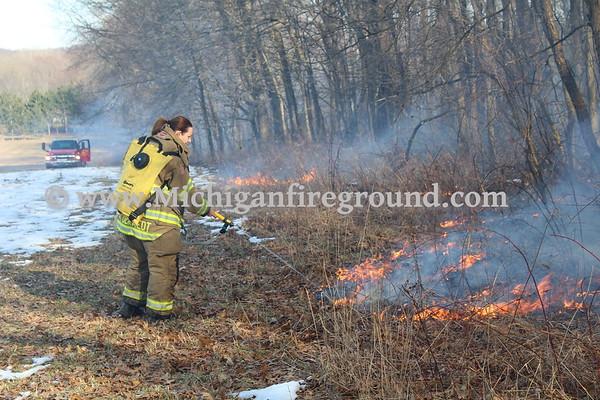 3/25/18 - Rives-Tompkins Twp brush fire, 9004 Kimberly Ct