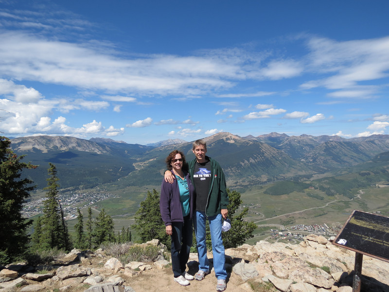 Dan and I with Crested Butte below us.