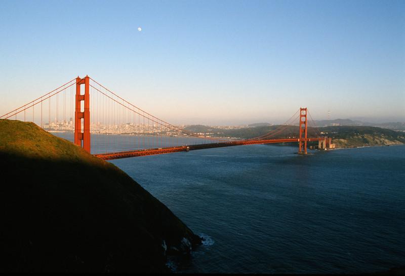 Moon rise over San Francisco