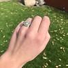 2.85ct Antique Cushion Cut Diamond Halo Ring 22