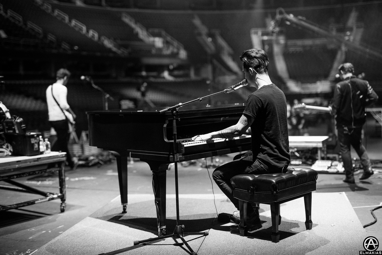 Brendon Urie of Panic! At The Disco at rehearsals for the Alternative Press Music Awards 2015 by Adam Elmakias
