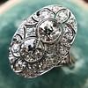 1.75ctw Edwardian Toi et Moi Old European Cut Diamond Ring  30