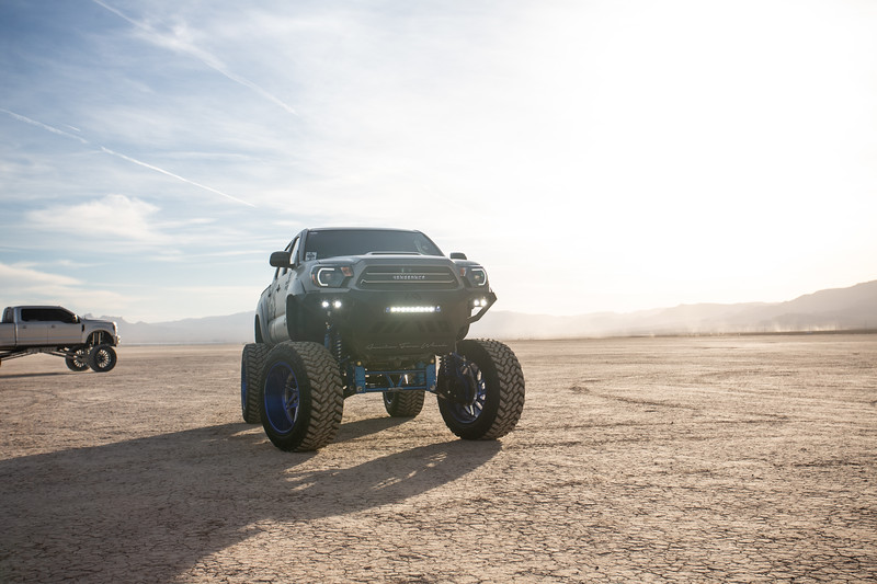 @T_harper96 @Vengeance_tacoma 2005-15 Toyota Tacoma featuring our New 2019 Concave 24x14 Lollipop Blue #GENESIS wrapped in 40x1550x24 @NittoTire-18.jpg