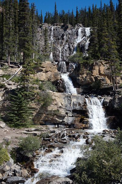 Waterfall near the icefields