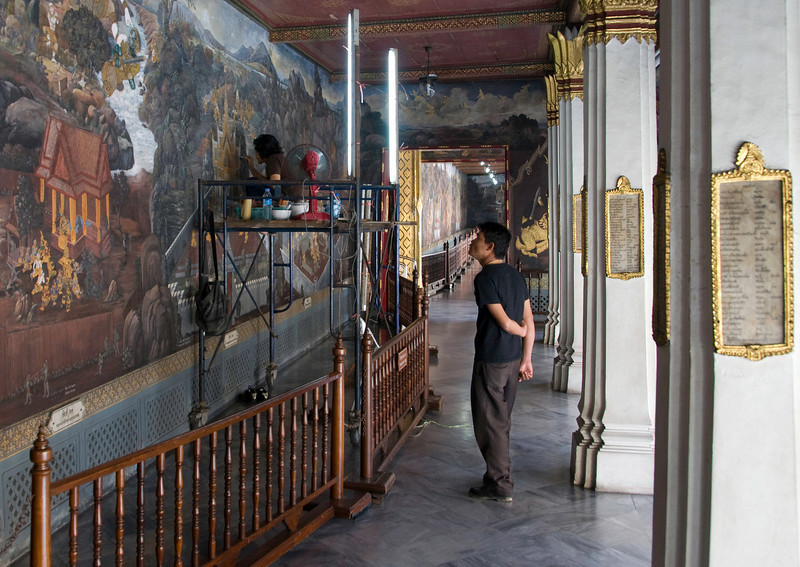 Mural depicting Buddhist legend at Royal Palace