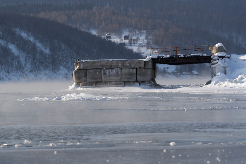 Angara source from Lake Baikal