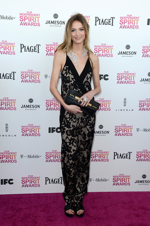 . SANTA MONICA, CA - FEBRUARY 23:  Actress Stephanie Crayencour attends the 2013 Film Independent Spirit Awards at Santa Monica Beach on February 23, 2013 in Santa Monica, California.  (Photo by Frazer Harrison/Getty Images)