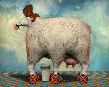 """""""Pontius"""" (pigment ink on paper) by Don Bergland"""
