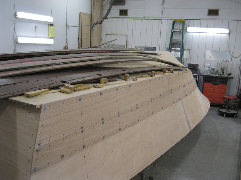 Rear port view of the planks fit.