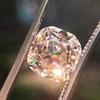 4.03ct Light Fancy Brown Antique Cushion Cut Diamond Halo Ring GIA LFB, SI1 52