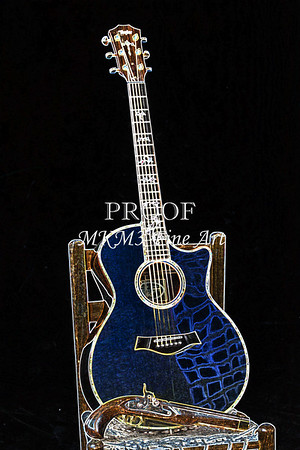 Acoustic Guitar Drawing Prints Taylor 914C