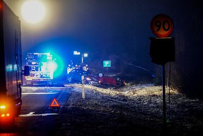 Trafikolycka 2 bilar rv30 söder Lammhult