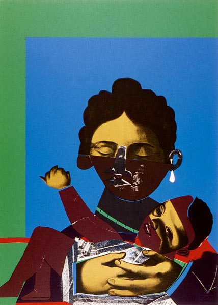 "Romare Bearden, ""Mother and Child,"" 1977"