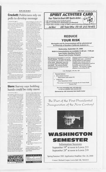 Daily Trojan, Vol. 141, No. 21, September 27, 2000