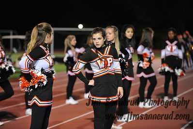 Cheerleaders at Football Game vs. Arlington