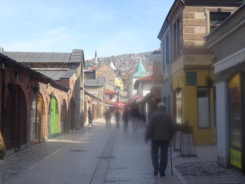 08_Sarajevo. Gazi Husref-Bey's. The Long Bezistan (Market Place)with Shops.JPG