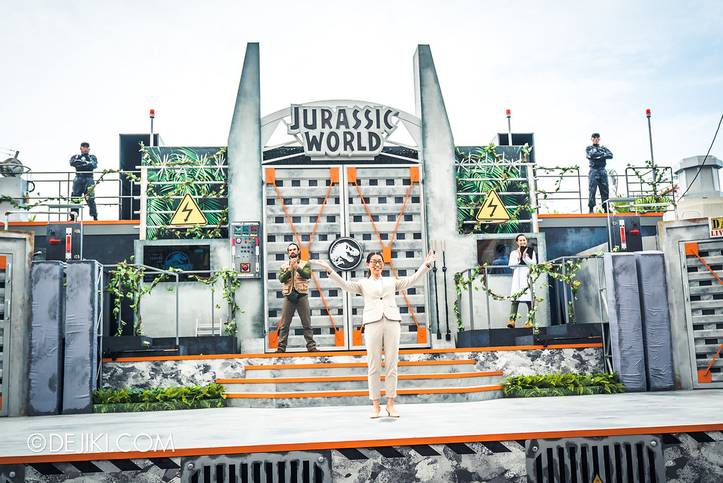 Universal Studios Singapore Park Update - Jurassic World Explore and Roar event - Jurassic World: ROAR! show / opening