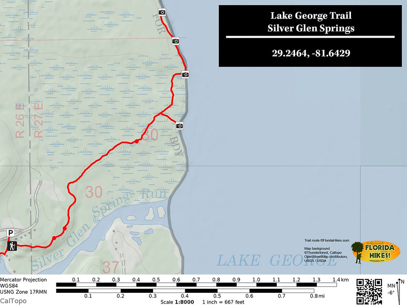 Lake George Trail Map