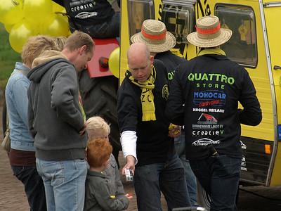 Op pad met de supporters