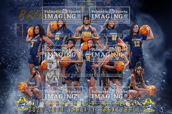 2020-2021 Varsity Girls Basketball Team and Individuals