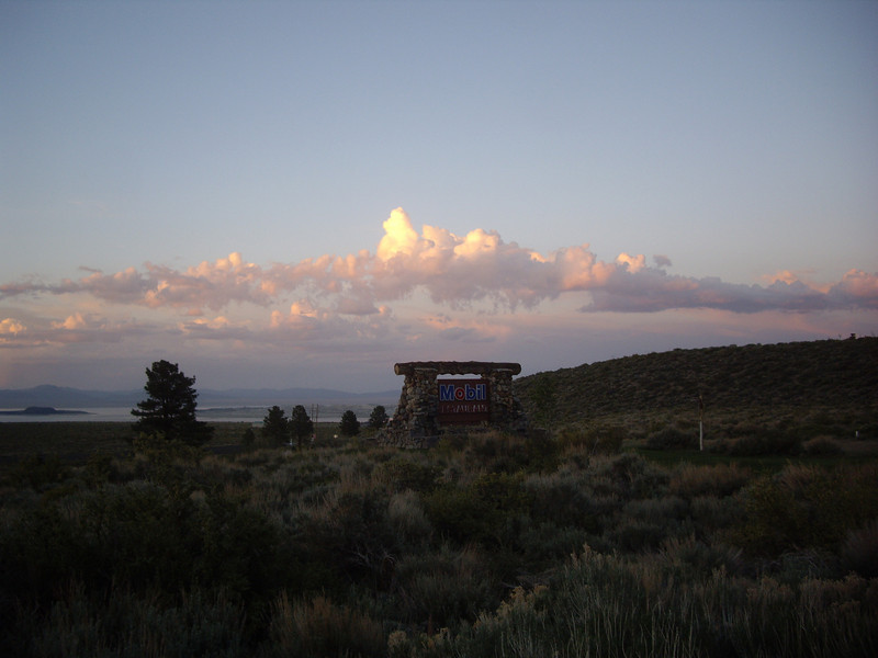 The Mobil Station by Mono Lake.  Great food!