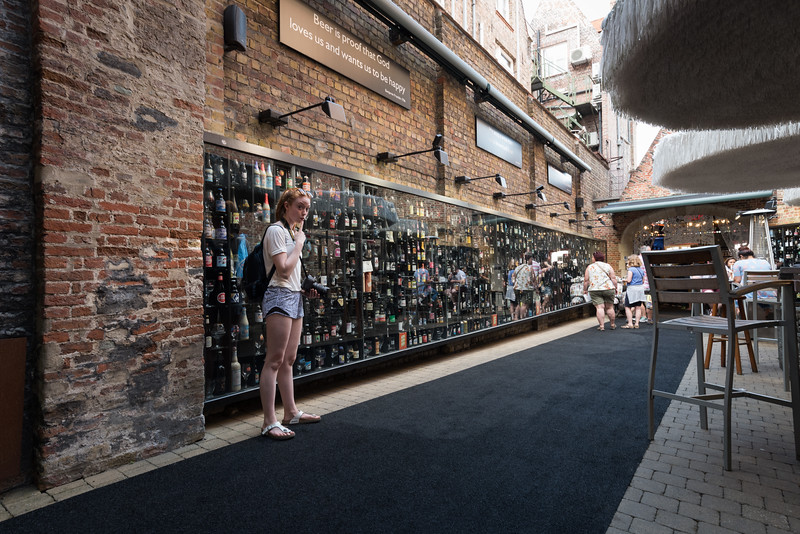 Day 4 - beer wall in Brugge, July 7th