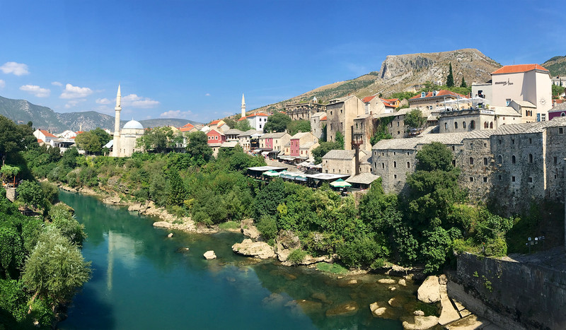 Straddling the Neretva River in southern Bosnia and Herzegovina is the historic city of Mostar.