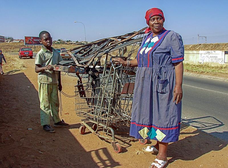 Collecting metal scrap for sale - Soweto, JB/SA