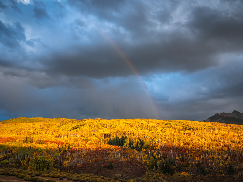 Kebler Pass Rainbow! Colorado Fall Colors Fine Art Landscape Nature Photography Fuji GFX100  Elliot McGucken Fine Art Landscape Nature Photography Prints & Wall Art
