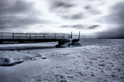 Lake Superior in Black & White