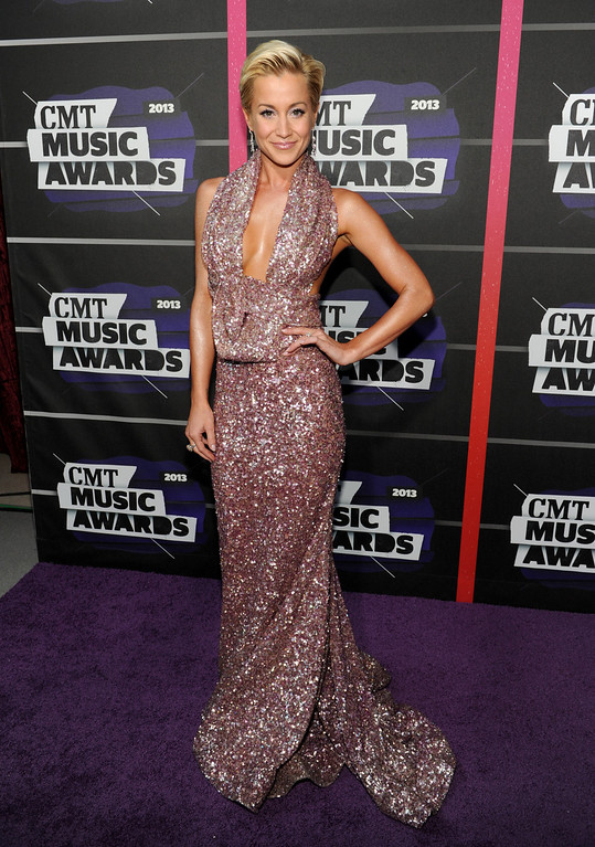 . Kellie Pickler arrives at the 2013 CMT Music Awards at Bridgestone Arena on Wednesday, June 5, 2013, in Nashville, Tenn. (Photo by Frank Micelotta/Invision/AP)