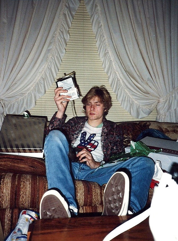 . This undated photo provided by Kim Cobain shows a young Kurt Cobain in his childhood home in Aberdeen, Wash.   (AP Photo/Courtesy Kim Cobain)