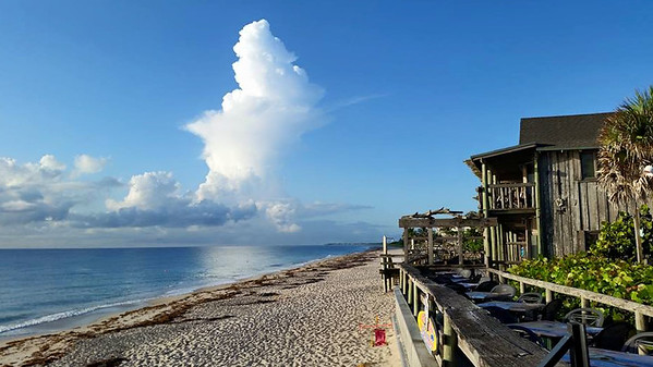 First days at Vero Beach's Driftwood Resort. plus lunch in Athens, OH.