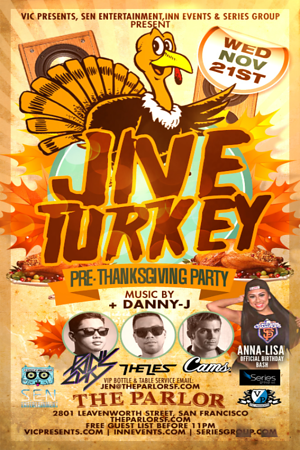 Jive Turkey @ The Parlor 11.21.12