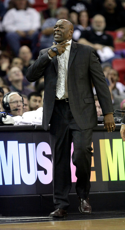 . Sacramento Kings reacts after being called for a technical foul during the third quarter of an NBA basketball game against the Denver Nuggets in Sacramento, Calif., Sunday, Dec. 16, 2012.  The Nuggets won 122-97.(AP Photo/Rich Pedroncelli)